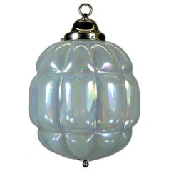Large Mid Century Opaline Glass Pendant