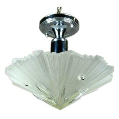 Frosted and Clear Deco Star Flush Mount