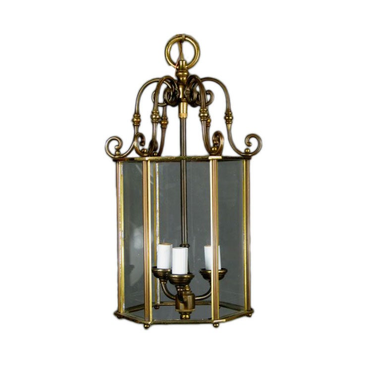 ON SALE Cast Glass Six Panels Lantern