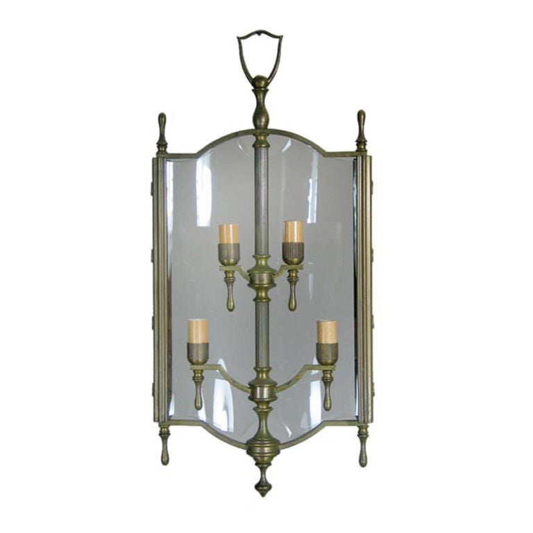 Italian Bronze Lantern For Sale