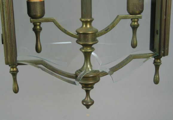 Mid-20th Century Italian Bronze Lantern For Sale