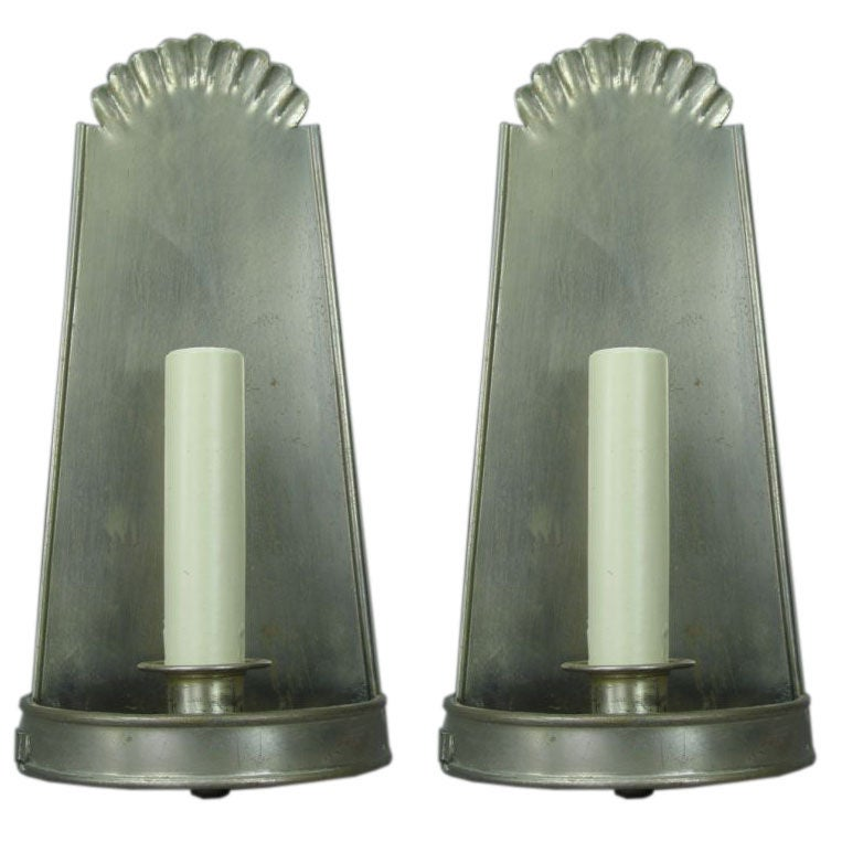 Pair of 1920s Sconces For Sale