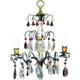 French Amethyst Crystal Chandelier