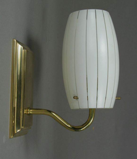 Pair Modern Glass Sconces at 1stdibs