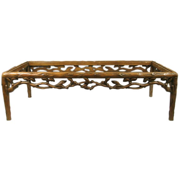 Hand carved wood coffee table at 1stdibs Hand carved coffee table