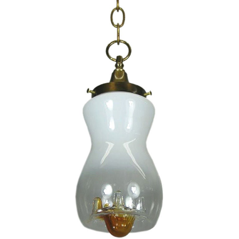 Mazzega Mid Century Glass Pendant(3 available) For Sale
