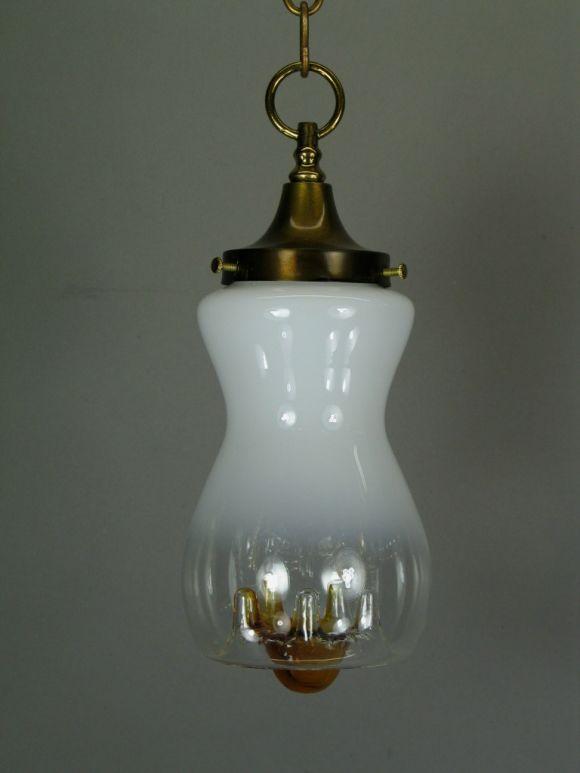 Italian Mazzega Mid Century Glass Pendant(3 available) For Sale