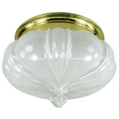 Oversized Opaline Glass Crown Flush Mount