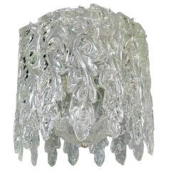 Murano Waterfall  glass pendant  fixture
