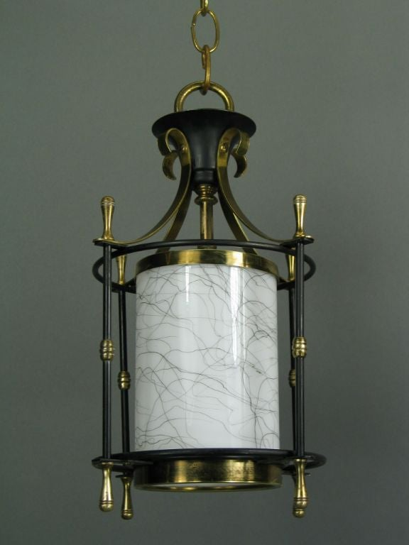 ON SALE Small  Mid Century Lanterns, ( 3available) In Good Condition For Sale In Douglas Manor, NY