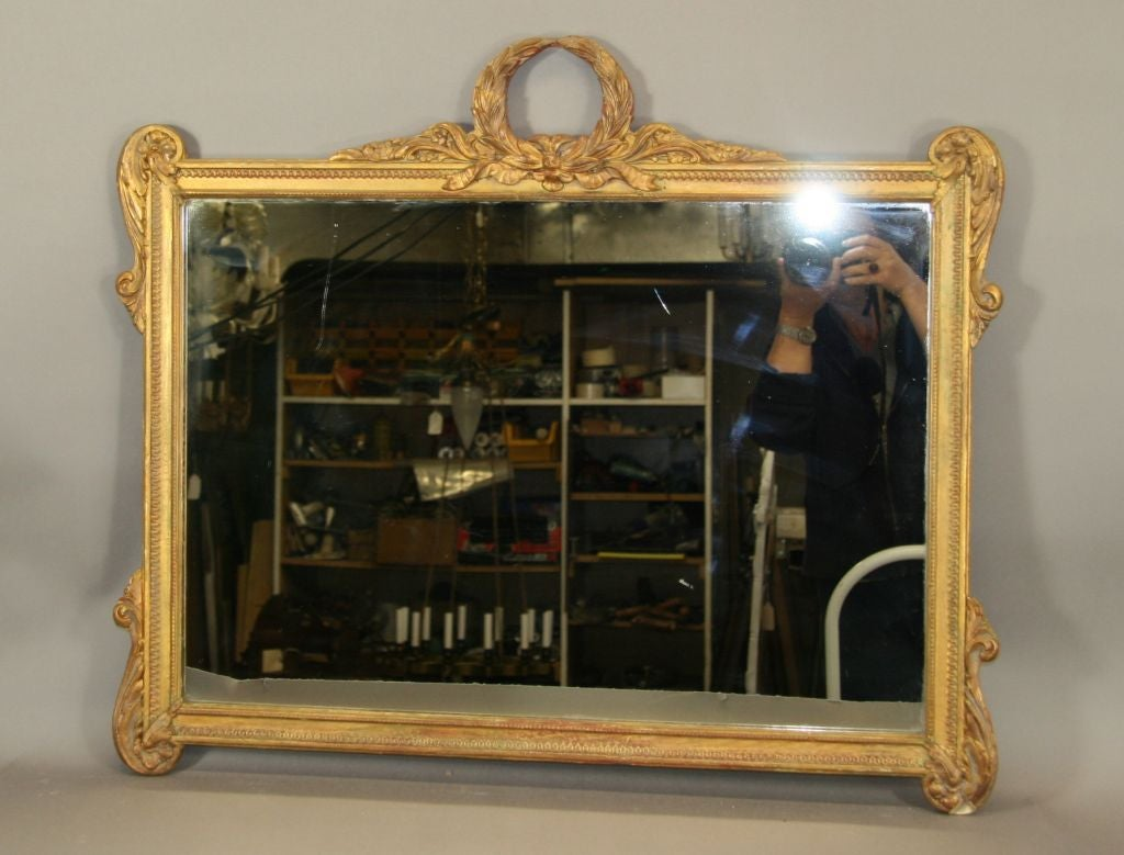 #6-321 Wood and gesso mirror