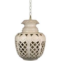 Oversized Ceramic Pendant