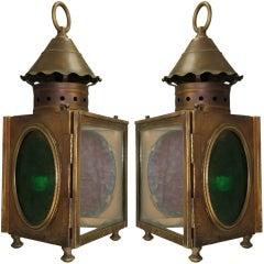 Pair of Nautical Wall Lanterns