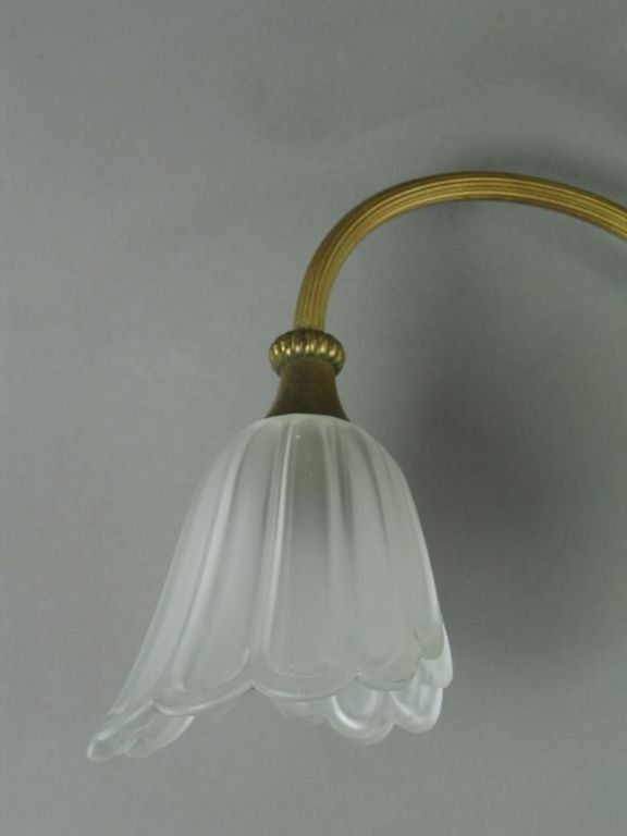 Tulip Glass sconce(over mirror lite) at 1stdibs