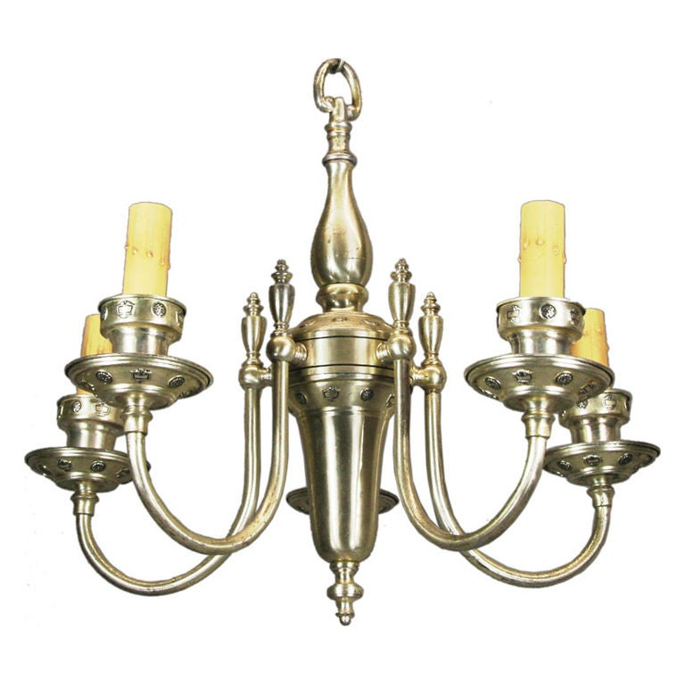 ON SALE Silver Plate Chandelier, circa 1920s