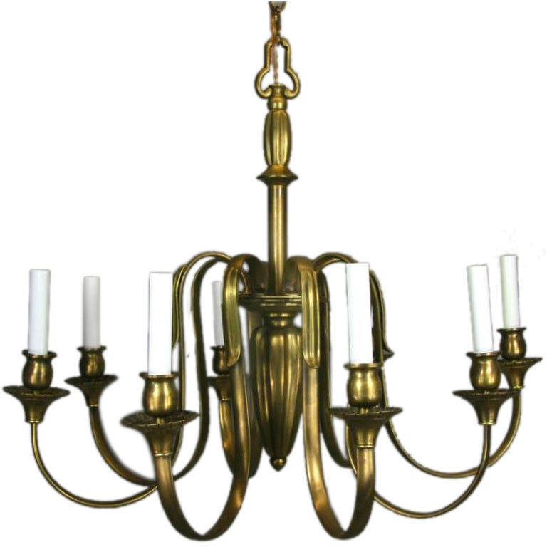 ON SALE Large French Bronze Chandelier
