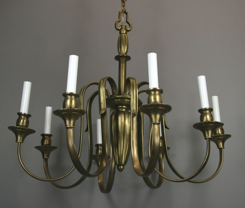 ON SALE Large French Bronze Chandelier In Good Condition For Sale In Douglas Manor, NY