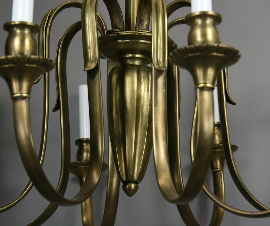 20th Century ON SALE Large French Bronze Chandelier For Sale