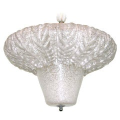 Large Spectacular Murano Glass Tulip Ceiling Light