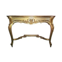 Late 19th Century French Hand-Carved Console