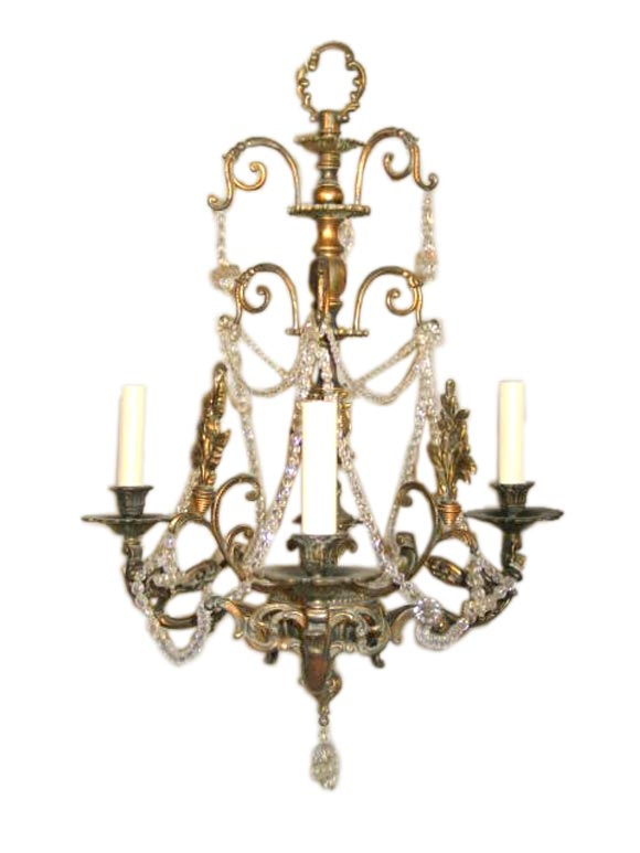 Bronze And Crystal Fixture At 1stdibs