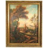 Bucolic Scenery Oil on Canvas