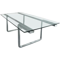 Metal and Glass Desk Table by Castelli