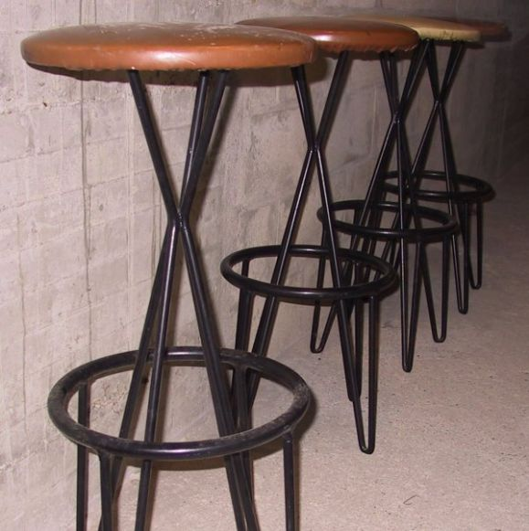 Set Of 4 Bar Stools At 1stdibs