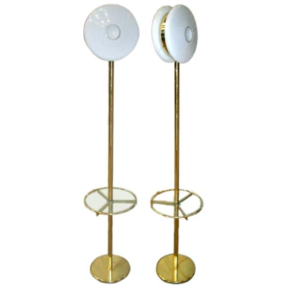 Pair of Floor Lamps By Sottsass
