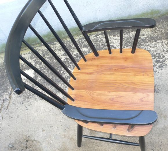 Finnish Set of Eight Armchairs by Tapiovaara For Sale