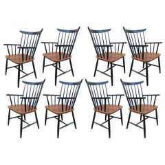 Set of Eight Armchairs by Tapiovaara thumbnail 1