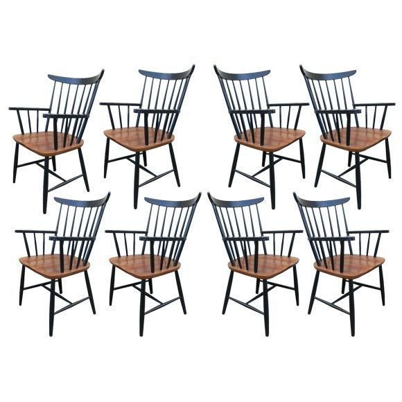 Set of Eight Armchairs by Tapiovaara
