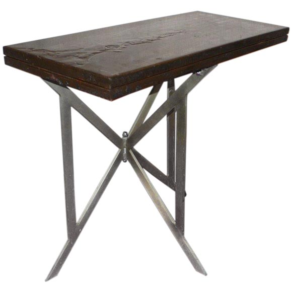 Lacquered folding table console at 1stdibs for Table console retractable