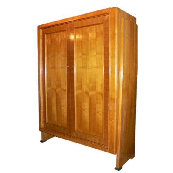 Nice Cherry Wood Cabinet Attributed To Porteneuve At 1stdibs