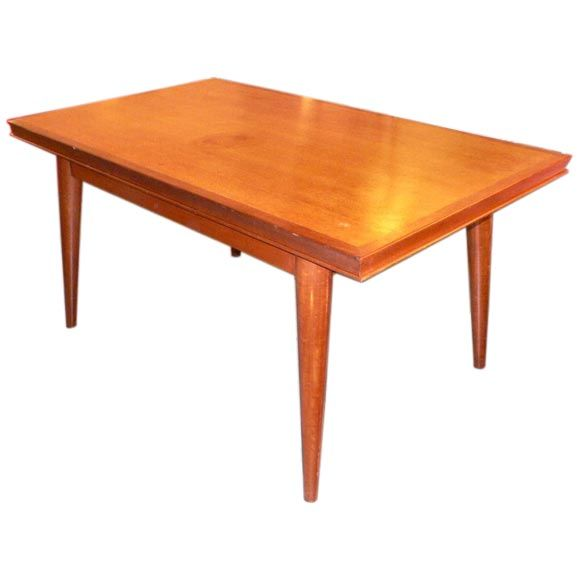 Mahogany Dining Table with Extensions by G Poisson