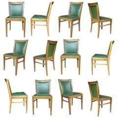 Set of 12 Walnut Dining Chairs