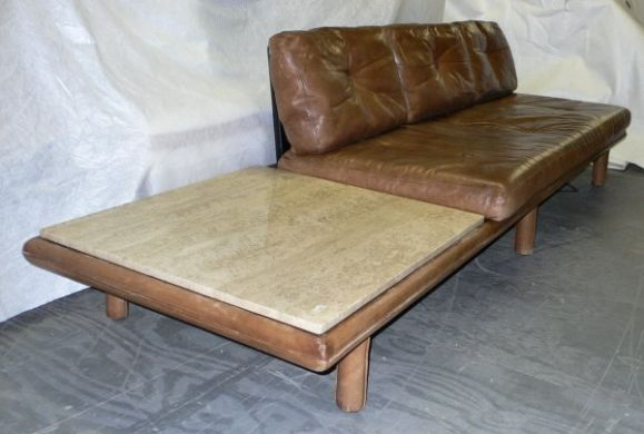 Vintage leather sofa by Franz Köttgen for Kill International. Located in NYC.