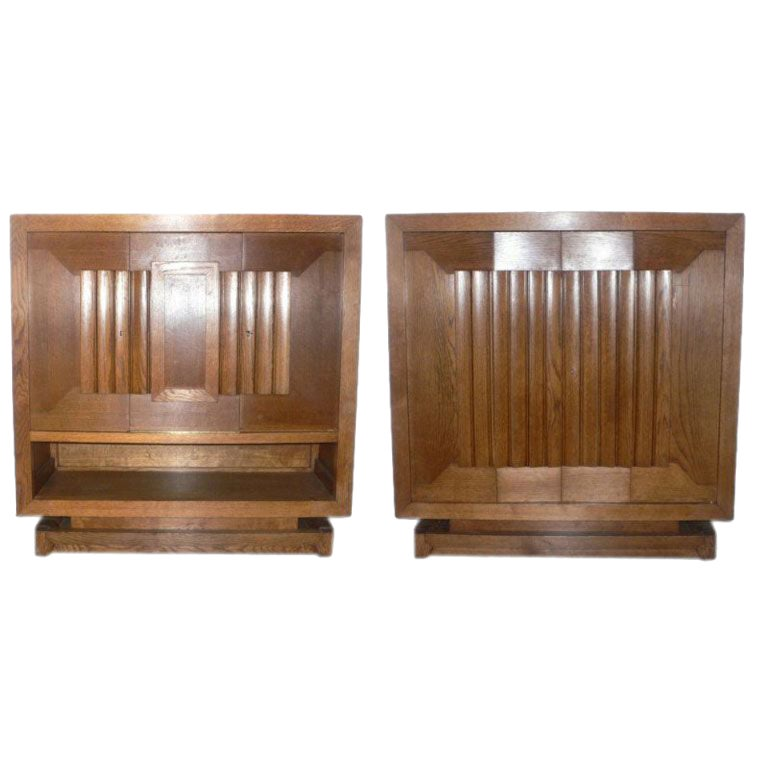 Pair of Cabinets by Charles Dudouyt For Sale