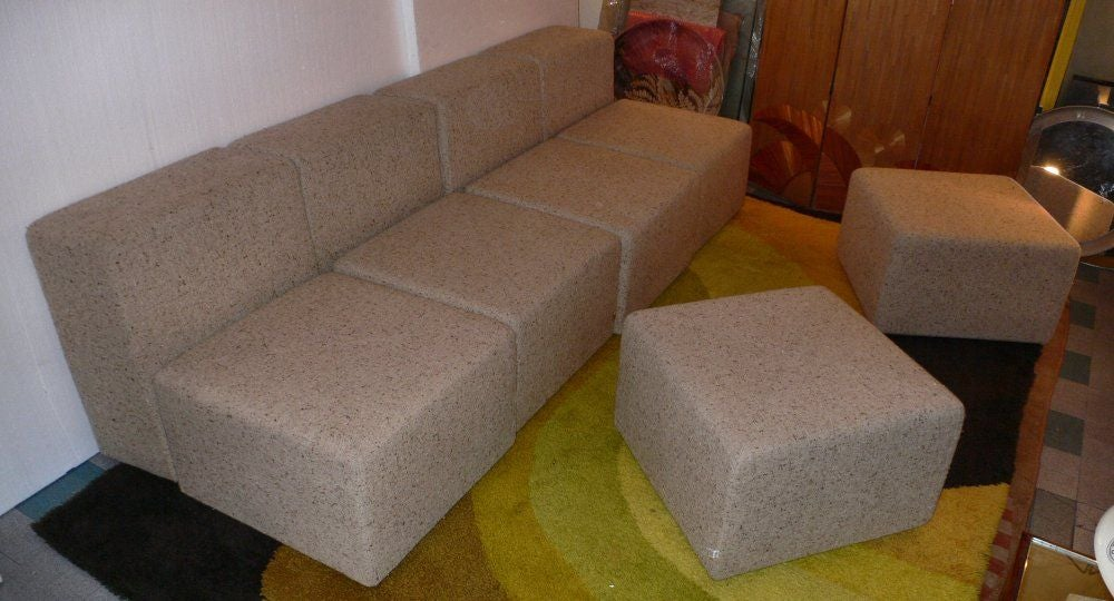 Wood sofa + by Castelli For Sale