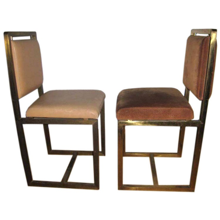Pair Of Maison Jansen Chairs At 1stdibs