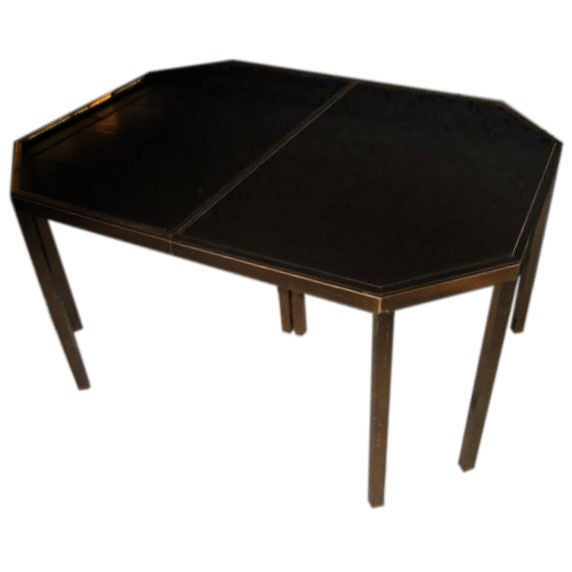 Maison Jansen Octagonal Dining Table With Extension At 1stdibs
