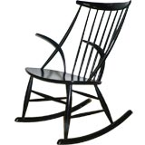 black lacquered rocking chair