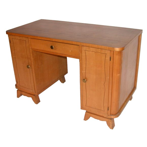French 1950s Sycamore Desk