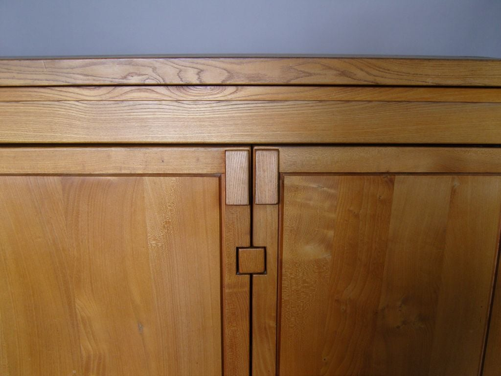 Mid-Century Modern Fine French 1960s Elm  Buffet / Dresser by Pierre Chapo For Sale