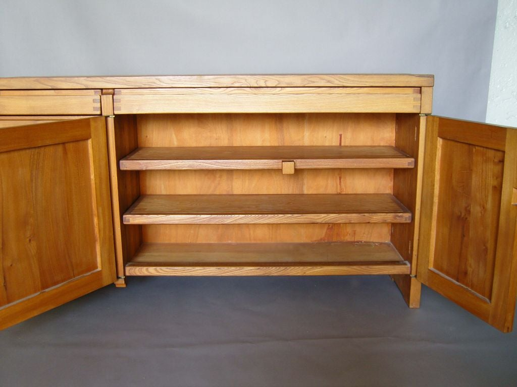 Mid-20th Century Fine French 1960s Elm  Buffet / Dresser by Pierre Chapo For Sale