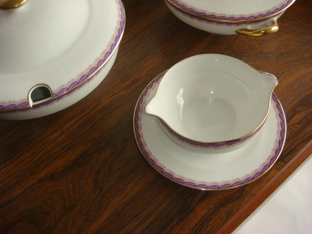 French Limoges Dinner Service by Ahrenfeldt For Sale 1