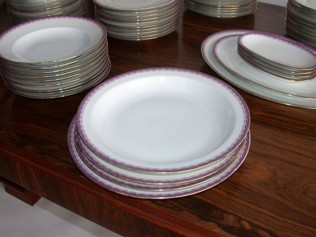 20th Century French Limoges Dinner Service by Ahrenfeldt For Sale