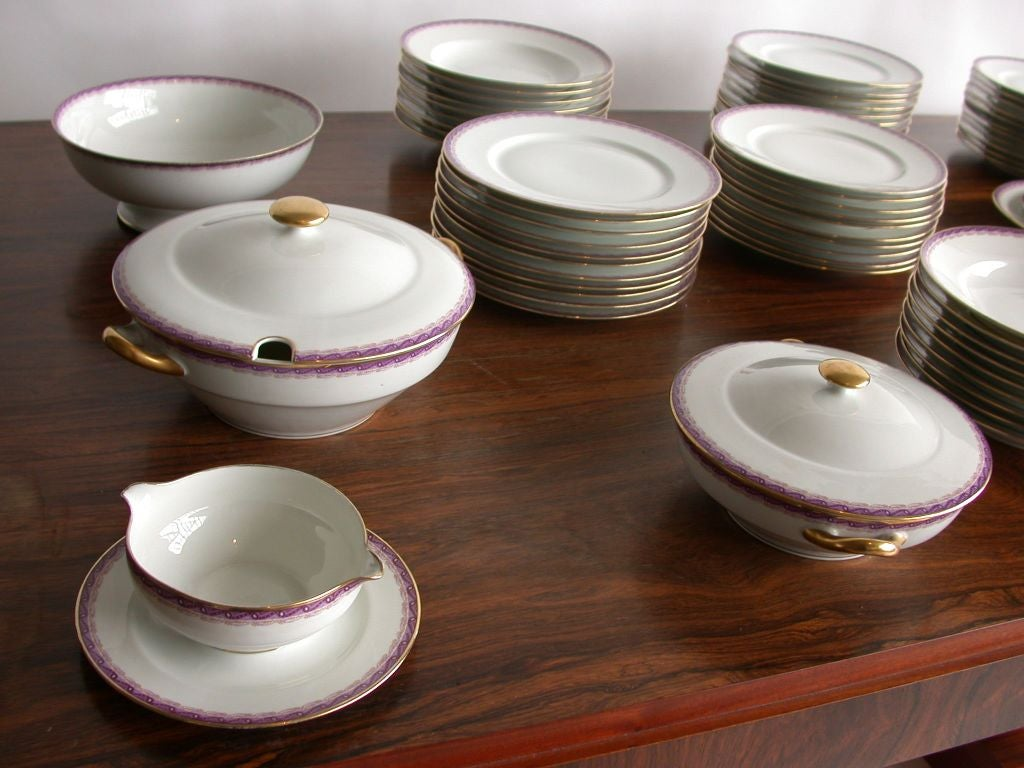 Art Deco French Limoges Dinner Service by Ahrenfeldt For Sale