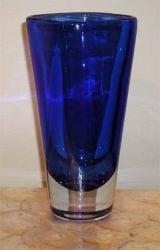 Brilliant Blue Vase by Salviati
