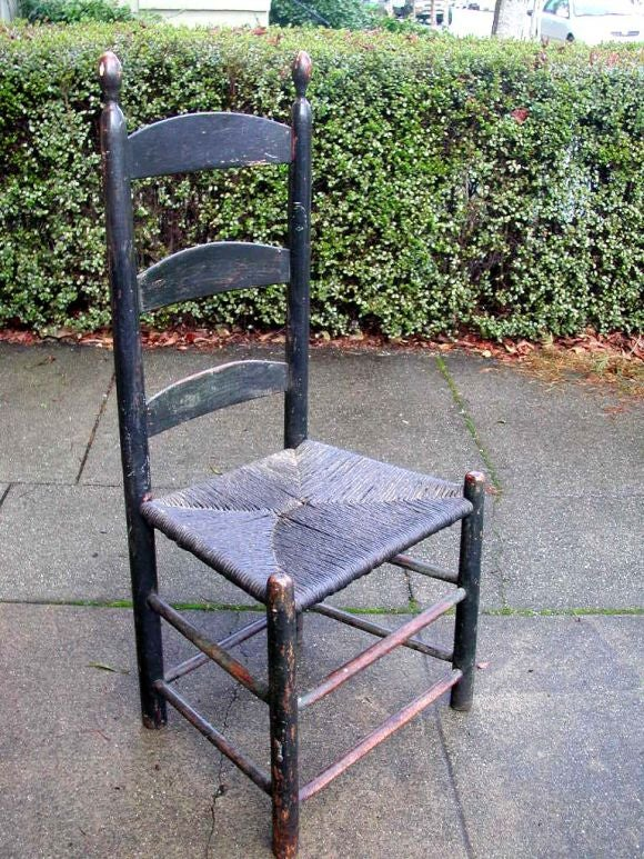 Painted Ladderback Side Chair At 1stdibs